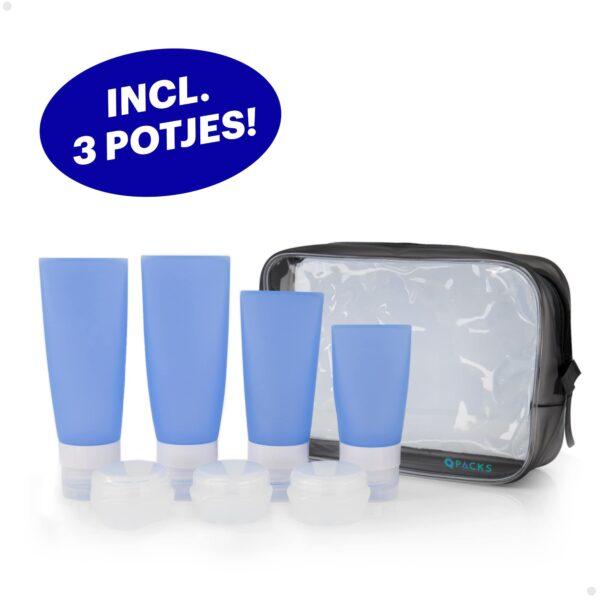 Qpacks Reisfles set blauw