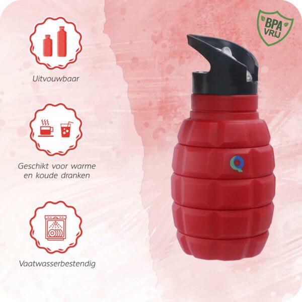 The Red drinkfles vaatwasser bestendig