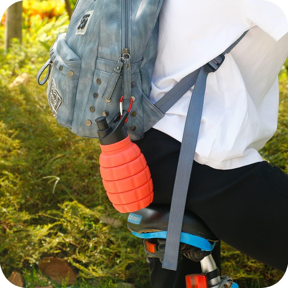 Drinkfles op de fiets