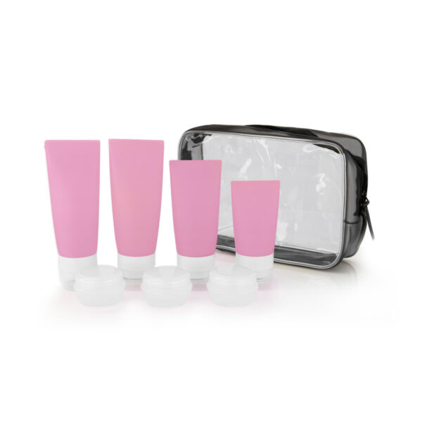 Qpacks Reisfles set roze